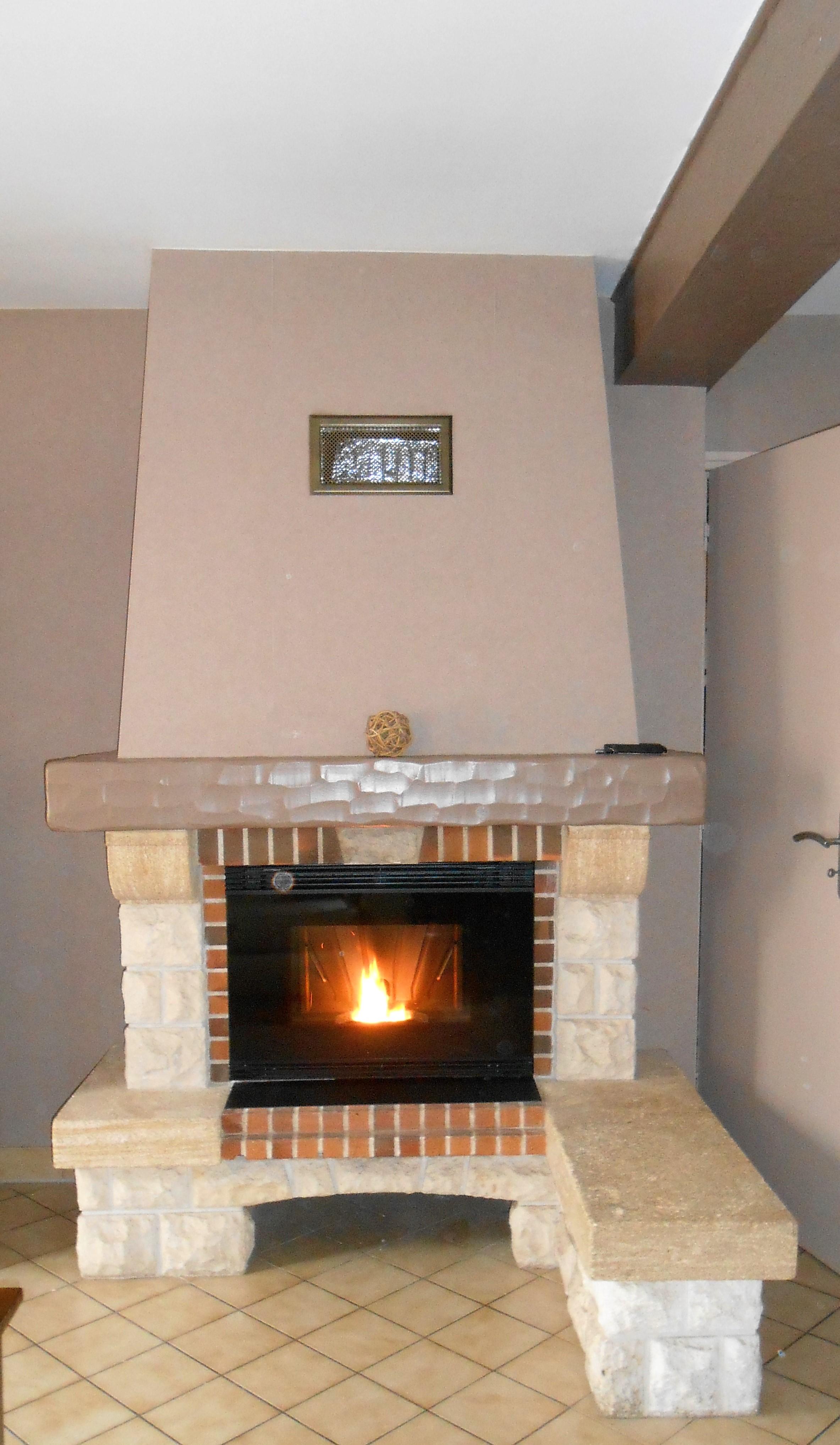 Photo renovation cheminée, JOTUL Brive Cheminées, JOTUL PC 1200, cassette à granulés