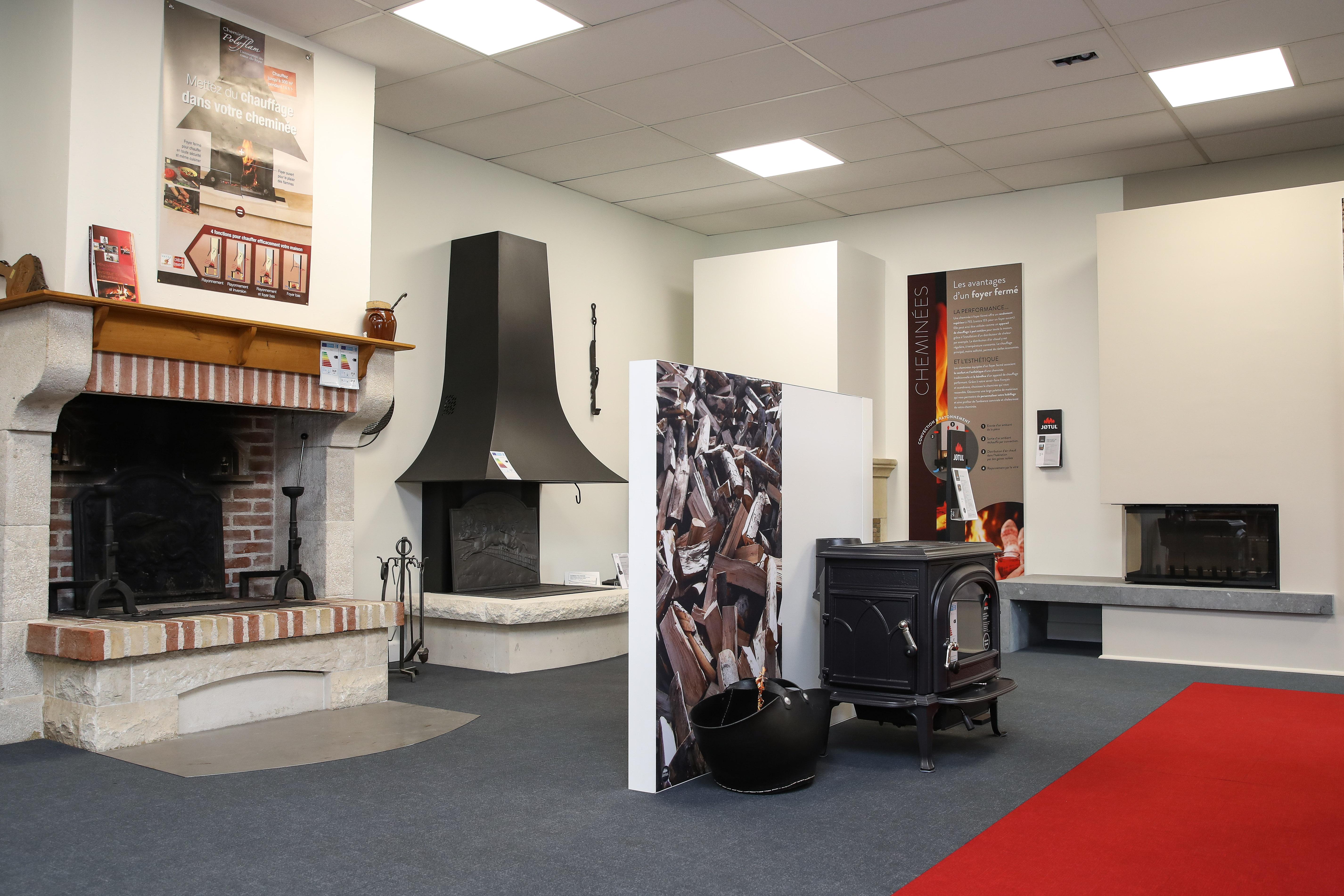 showroom jotul brive cheminées, cheminée, moderne, classique, foyer