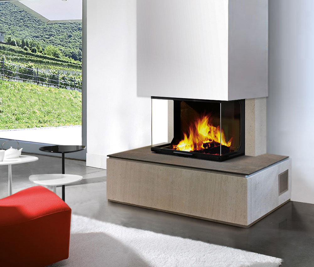 installation po le bois granul s chemin e jotul. Black Bedroom Furniture Sets. Home Design Ideas