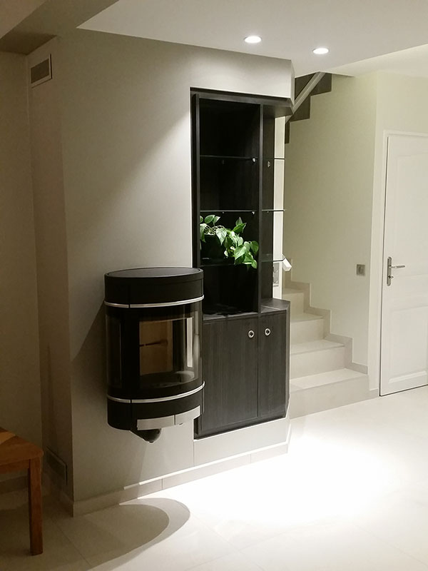installation po le bois granul s chemin e jotul scan atra ild. Black Bedroom Furniture Sets. Home Design Ideas