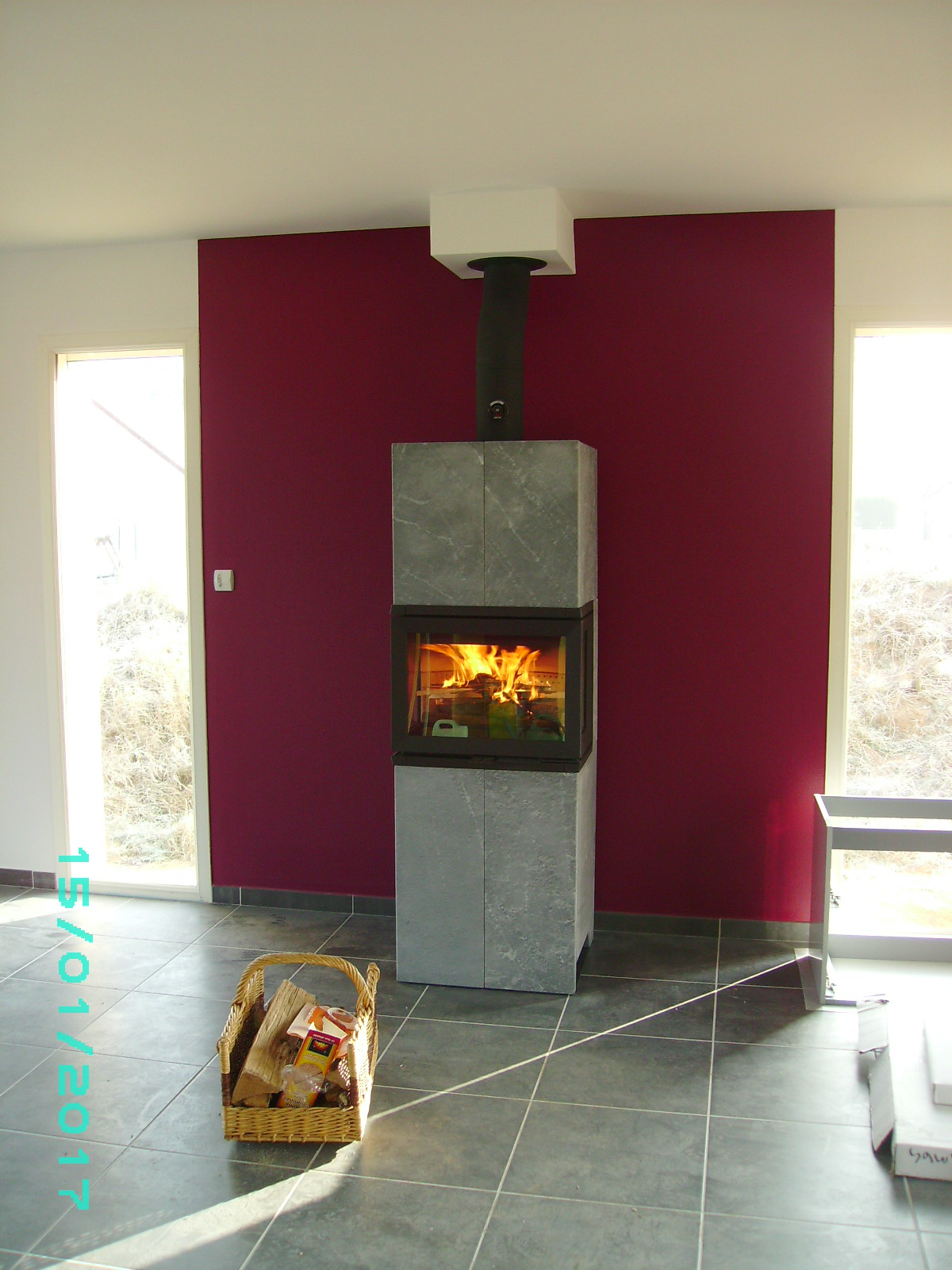 Photo poele-cheminée à bois Norvégien Jotul FS 173 pierre ollaire