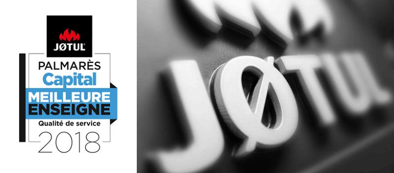 Jøtul, élue Meilleure Enseigne Qualité de Service 2018
