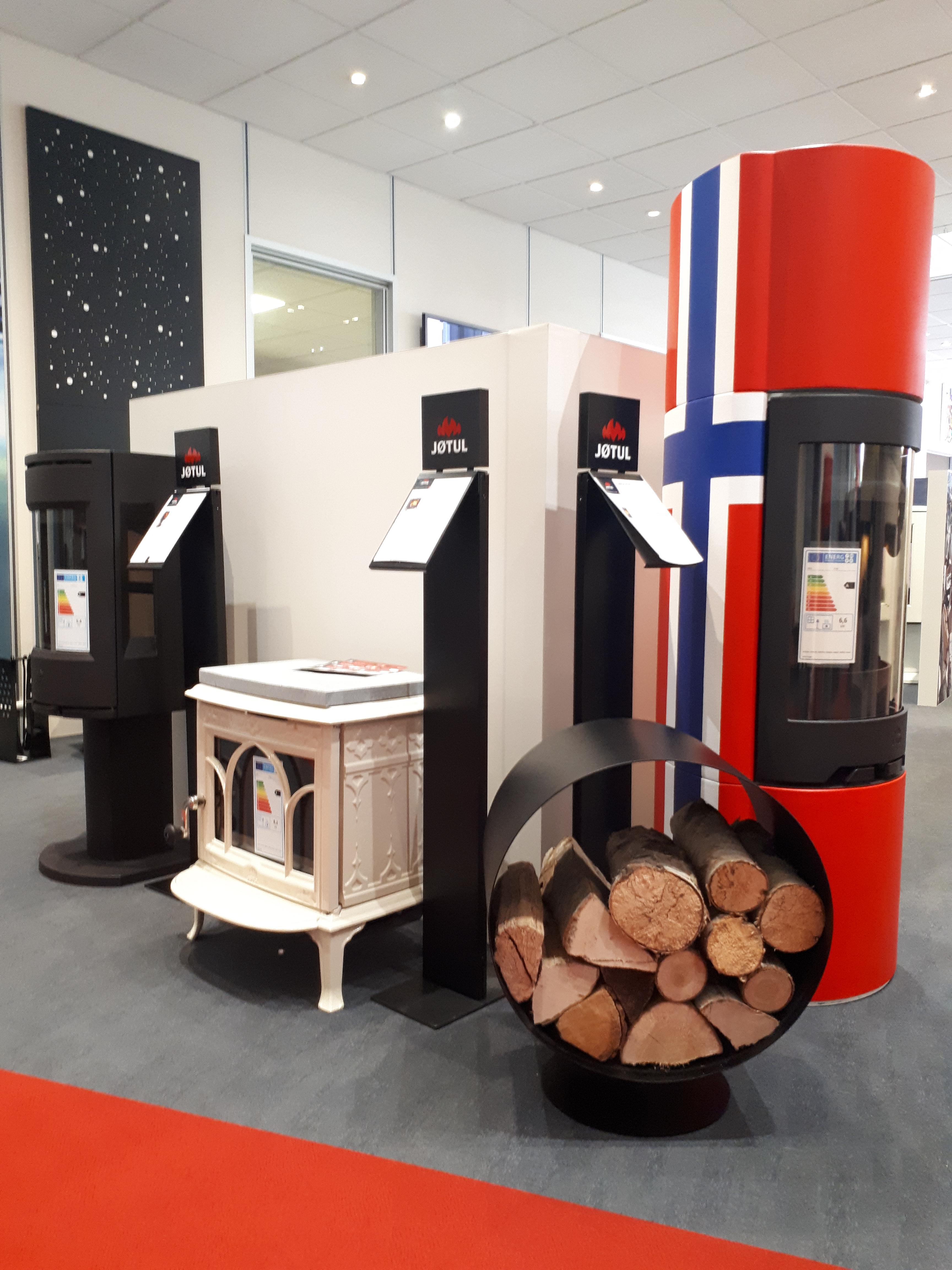 Showroom Jotul DIJON, poeles à bois JOTUL contemporains et rustique